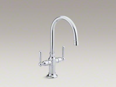 Kohler HiRise Single-hole bar sink faucet with lever handles K-7342-4
