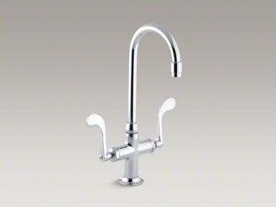 Kohler Essex® Single-hole bar sink faucet with wristblade handles K-8761