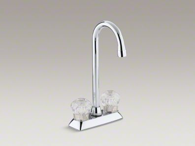 Kohler Coralais® Two-hole centerset bar sink faucet with sculptured acrylic handles K-15275-CP