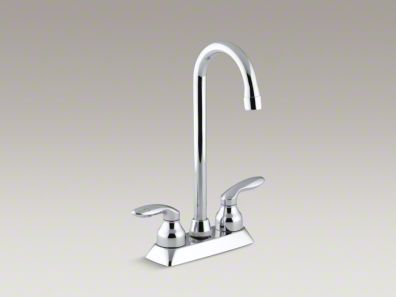Kohler Coralais® Two-hole centerset bar sink faucet with lever handles K-15275-4-CP