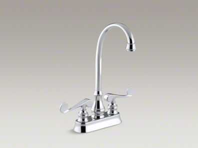 Kohler Revival® Two-hole centerset bar sink faucet with scroll lever handles K-16112-4