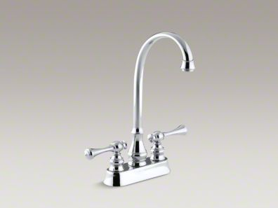 Kohler Revival® Two-hole centerset bar sink faucet with traditional lever handles K-16112-4A