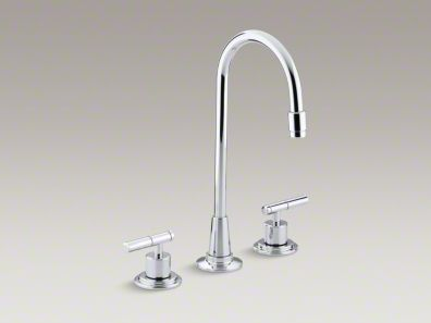 Kohler Taboret® Three-hole bar sink faucet, requires handles K-8207-K-CP