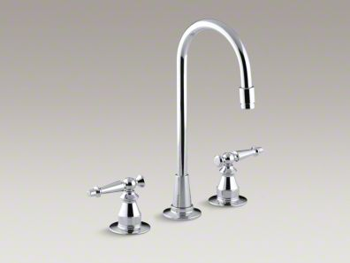 Kohler Antique Three-hole bar sink faucet with lever handles K-118-4