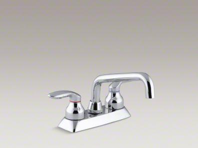 Kohler Coralais® Utility sink faucet with lever handles K-15270-4-CP