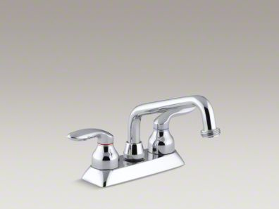Kohler Coralais® Utility sink faucet with threaded spout and lever handles K-15271-4-CP