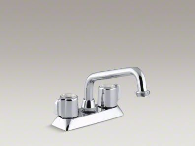 Kohler Coralais® Utility sink faucet with threaded spout and blade handles K-15271-B-CP