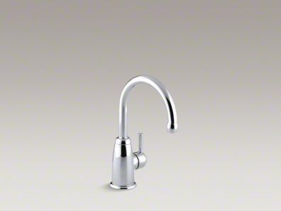 Kohler Wellspring® Beverage faucet with contemporary design complete with Aquifer® water filtration system K-6665-F