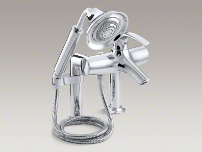 Kohler  Symbol® deck-mount bath faucet with diverter spout and handshower K-18486-4