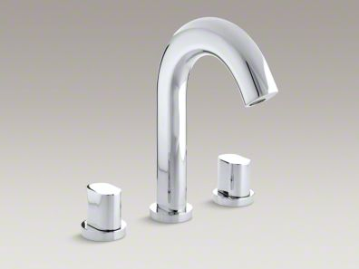 Kohler  Oblo® Deck-mount bath faucet trim, valve not included  K-T10059-9