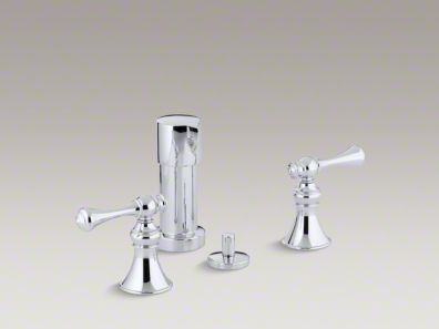 Kohler  Revival® Vertical spray bidet faucet with traditional lever handles  K-16132-4A