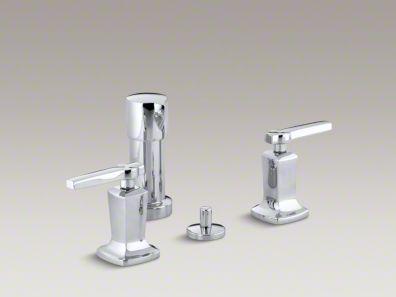 Kohler  Margaux® Vertical spray bidet faucet with lever handles K-16238-4