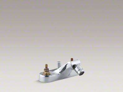 Kohler Taboret® Centerset swivel spray spout bidet faucet, requires handles K-8240