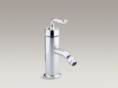 Kohler Purist® Horizontal swivel spray areator bidet faucet with smile design handle  K-14434-4