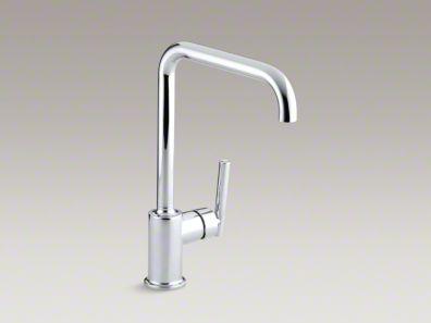 """Kohler Purist® Single-hole kitchen sink faucet with 8"""" spout K-7507"""