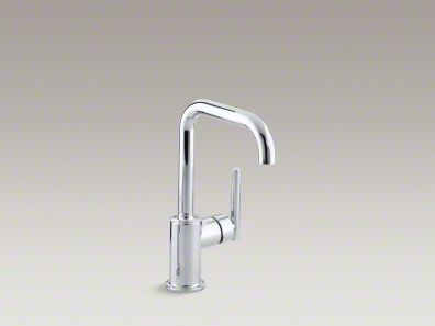 "Kohler Purist® Single-hole kitchen sink faucet with 6"" spout K-7509"