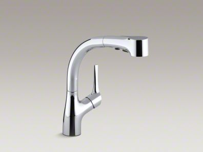 Kohler Elate™ Three-hole kitchen sink faucet with pullout spray spout and lever handle K-13963