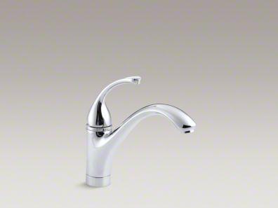 """Kohler Forté® Single-hole kitchen sink faucet with 9-1/16"""" spout K-10415"""