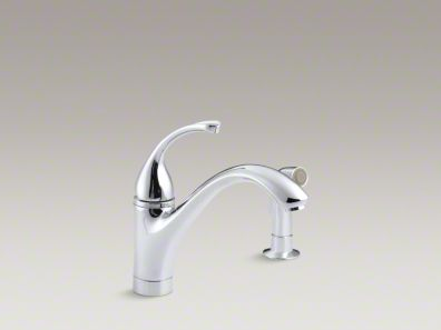 "Kohler Forté® 2-Hole kitchen sink faucet with 9-1/16"" spout, matching finish sidespray K-10416"