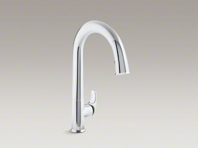 Kohler Sensate™ Touchless pull-down kitchen faucet with black accents K-72218-B7