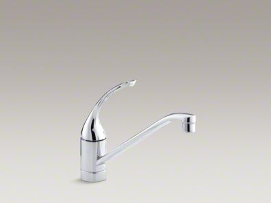 "Kohler Coralais® Single-hole kitchen sink faucet with 10"" spout and loop handle K-15175-FL"