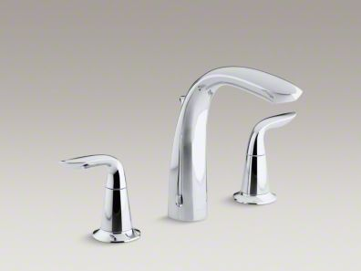 Kohler  Refinia® bath faucet trim with high-arch diverter spout and lever handles, valve not included  K-T5324-4