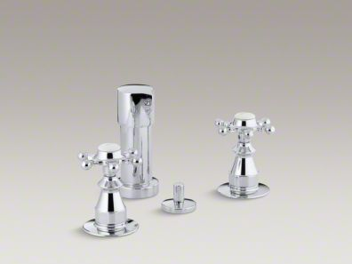 Kohler  Antique Vertical spray bidet faucet with six-prong handles K-142-3