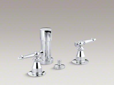 Kohler  Antique Vertical spray bidet faucet with lever handles K-142-4