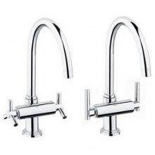 Grohe Atrio 2 Handle Kitchen Faucet Chrome 31 001 000