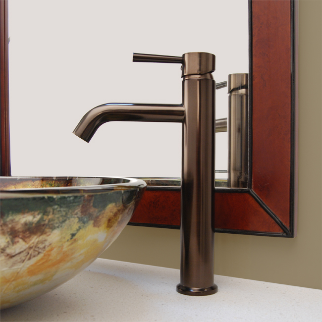 Fontaine Riviera Vessel Sink Filler Faucet + Drain - Brushed Bronze