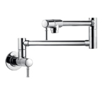 Hansgrohe 04218800 Talis C Wall Mounted Pot Filler - Steel Optik