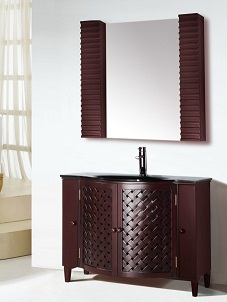 Suneli Italian Elegance Walnut Single Bathroom Vanity 8016