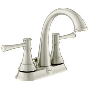 Moen Ashville Microban Two Handle High - Arc Bathroom Faucet in Spot Resist Brushed Nickel 84777MSRN