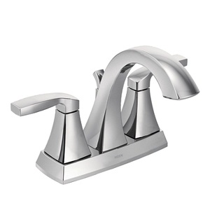 Moen Voss Two Handle High - Arc Bathroom Faucet in Chrome 6901