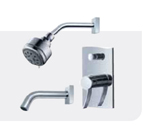 FLUID F1220-CP Viola Value Priced Tub & Shower Package - Chrome