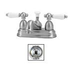 Elizabethan Classics CS02CP Centerset Bathroom Faucet - Chrome With Porcelain Handles