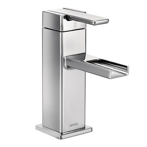 Moen 90 Degree One Handle Low - Arc Bathroom Faucet in Chrome S6705