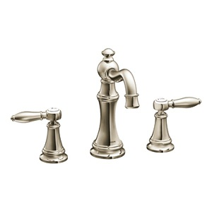 Moen Weymouth Two Handle Hi - Arc Bathroom Faucet in Nickel TS42108NL