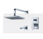 FLUID F1740-CP Track Tub & Shower Trim Package - Chrome