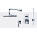 FLUID F1741-CP Track Series Shower with Handheld Trim Package - Chrome