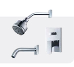 FLUID F1820-CP Utopia Value Priced Tub & Shower Package - Chrome