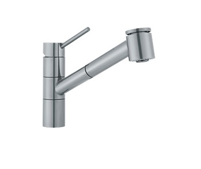 Franke FF2080  Pull out Spray Kitchen Faucet Satin Nickel 115.0066.590