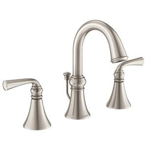 Moen Wetherly Two Handle High - Arc Bathroom Faucet in Spot Resist Brushed Nickel 84855SRN