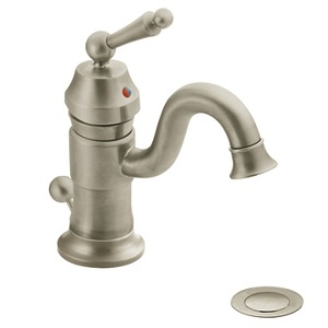 Moen Waterhill One Handle High - Arc Bathroom Faucet in Brushed Nickel S411BN