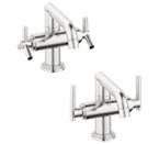 Grohe 21031 EN0 Low Spout Lavatory Centerset Faucet - Brushed Nickel