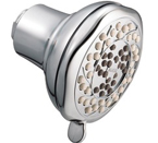 "Moen Enliven Chrome Three-Function 3-5/8"" Diameter Standard Showerhead - 21313"