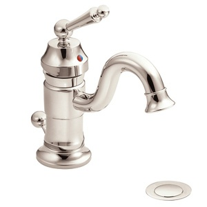 Moen Waterhill One Handle High - Arc Bathroom Faucet in Nickel S411NL