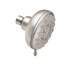 "Moen Banbury Spot Resist Brushed Nickel Five Function 4"" Diameter Showerhead - 23016SRN"