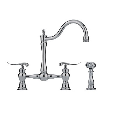 Franke FF7070 Arc Spout / Side Spray Kitchen Faucet Polished Nickel 115.0188.915