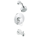 Grohe 26 017 000 BauLoop Shower & Tub Combination - Chrome